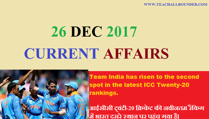 26 december 2017 current affairs
