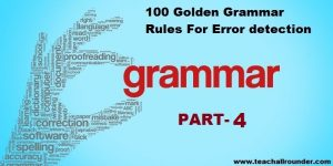 100 Golden Grammar Rules For Error PART 4