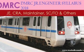 Delhi Metro DMRC Various Post syllabus 2018