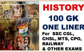 History-GK-One-Liner
