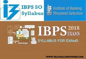 IBPS Specialist Officers Syllabus 2018