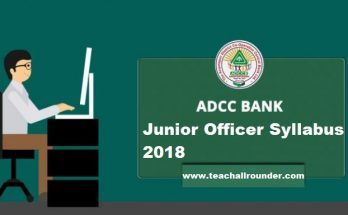 ADCC Bank Junior Officer Syllabus 2018
