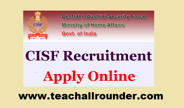 CISF Constable Driver Online Form 2018