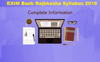 EXIM Bank Rajbhasha syllabus 2018