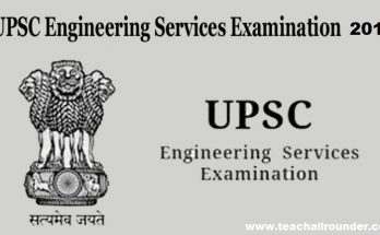 UPSC-Engineering-Service-Examination-syllabus 2018