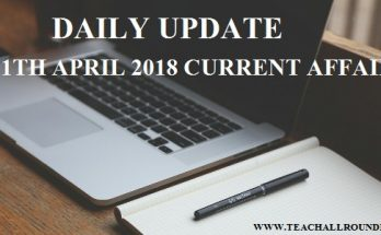 21th april 2018 current affairs