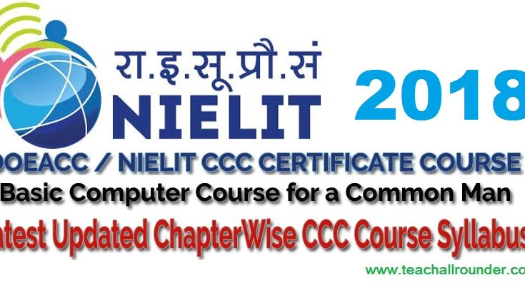 CCC (Course on Computer Concepts) SYLLABUS 2018