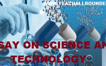 ESSAY ON SCIENCE AND TECHNOLOGY