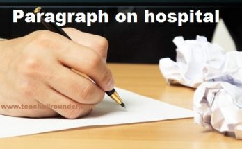 Paragraph on hospital
