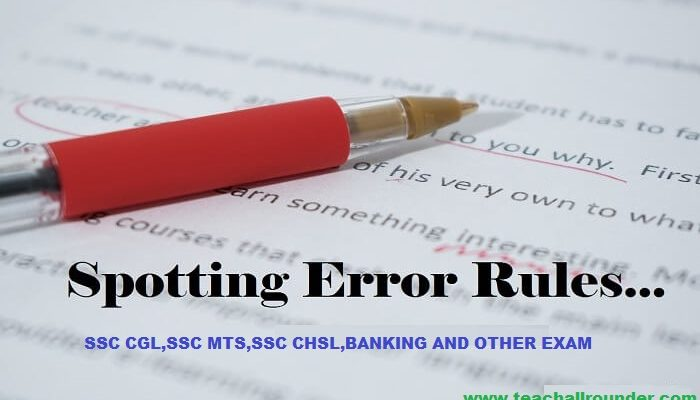 RULES AND EXAMPLES OF SPOTTING ERRORS